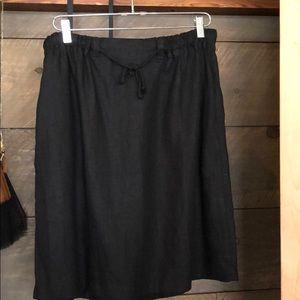 Dresses & Skirts - Linen skirts,black and denim blue